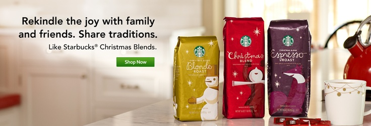 Rekindle traditions with Starbucks® Holiday coffees.