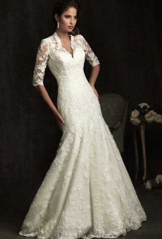 Кружевное свадебное платье - http://1svadebnoeplate.ru/kruzhevnoe-svadebnoe-plate-3418/ #свадьба #платье #свадебноеплатье #торжество #невеста