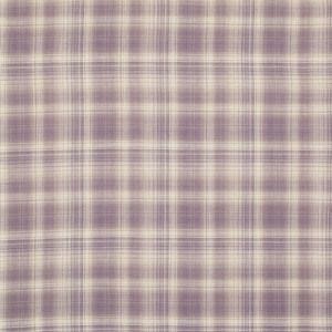Williams Check Grape Curtain Fabric