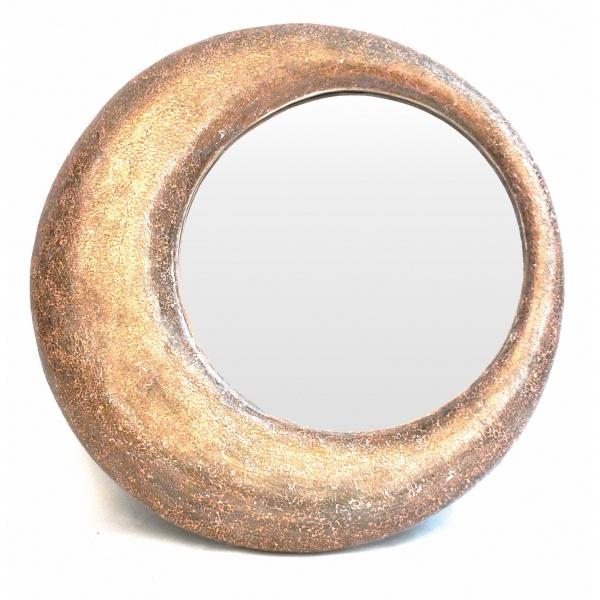 Round Bronze Haddon Mirror