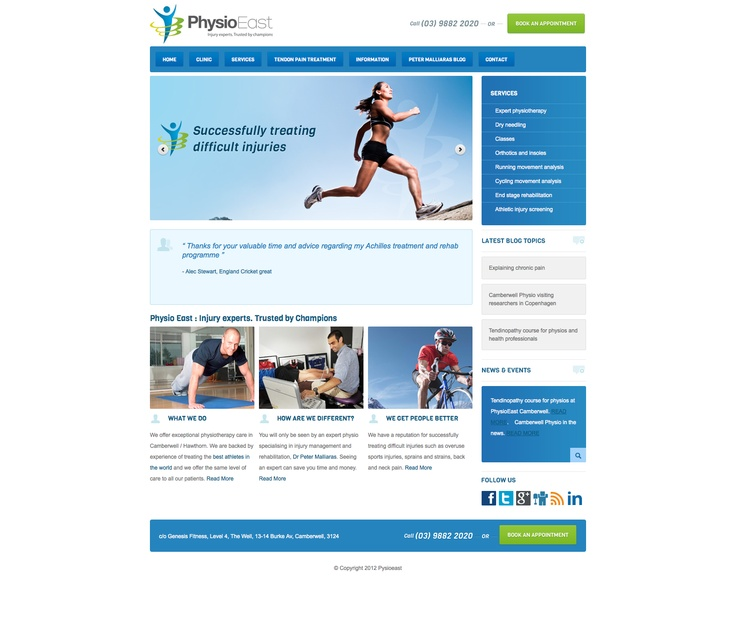 http://www.physioeast.com.au/ another nice looking website with good Call To Action buttons.