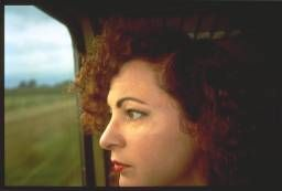 Nan Goldin 'Self-Portrait on the train, Germany', 1992 © Nan Goldin, courtesy Matthew Marks Gallery, New York