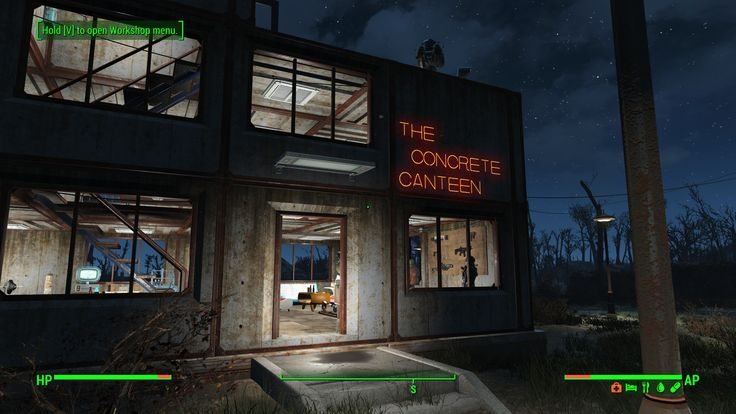 Something that I built during this lazy Sunday afternoon. Allow me to show you: The Concrete Canteen #Fallout4 #gaming #Fallout #Bethesda #games #PS4share #PS4 #FO4