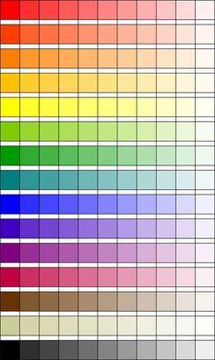 Verhelderen- van een hele donkere kleur een lichte kleur maken door er wit doorheen te doen