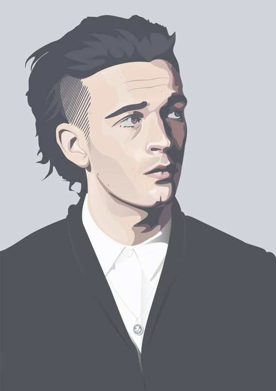 Fan Print of the lead singer of the 1975 - Matthew Healy!    This pretty face is avaliable in two different sizes    Limited to 10 prints, signed and