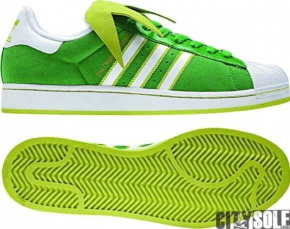 Kermit the Frog adidas Superstar II Sneakers.
