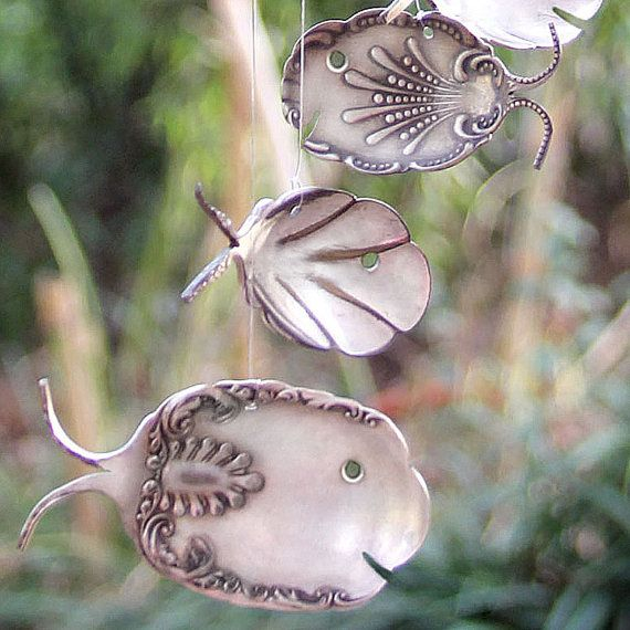 ornate spoon fish wind chimes by nevastarr on Etsy, $42.95