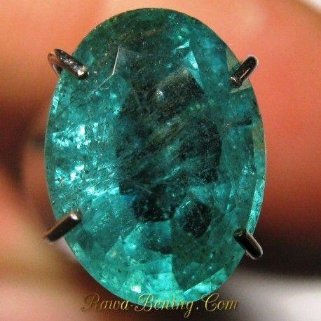Harga Natural Zamrud Hijau Pekat Oval VS 1.75 carat www.rawa-bening.com