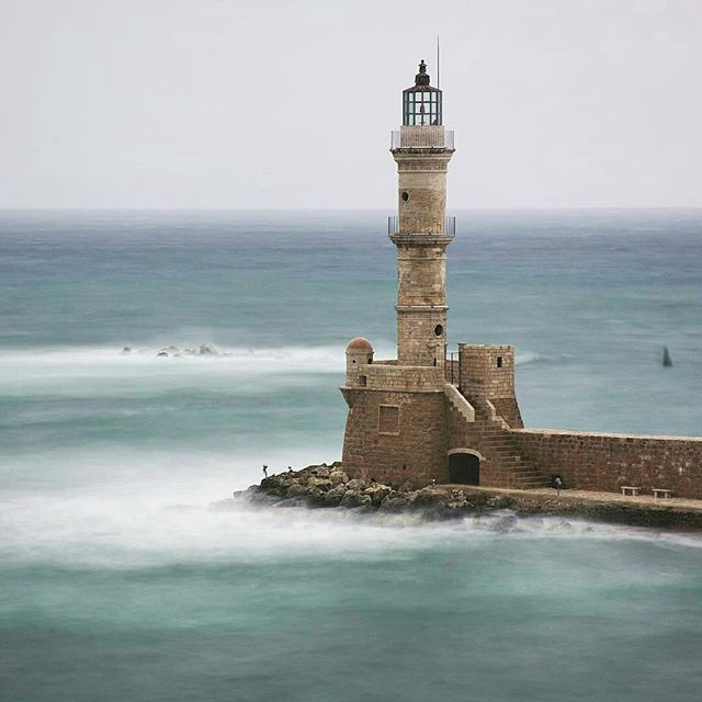 "Chania Old Town, Crete, Greece. ""If you are a lighthouse you cannot hide yourself, if you hide yourself you cannot be a lighthouse!"""