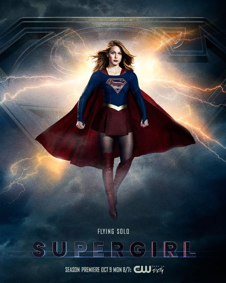 """In anticipation of the season 3 premiere of Supergirl next month, The CW has debuted a new poster featuring Melissa Benoist """"flying solo"""" as the titular DC Comics superheroine. Check it out after the jump."""