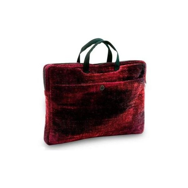 NOVICA Bamboo chenille and cotton laptop case (14 inch) ($83) ❤ liked on Polyvore featuring accessories, tech accessories, clothing & accessories, handbags, laptop bags & tablet cases, red, novica, padded laptop case, red laptop case and laptop sleeve cases