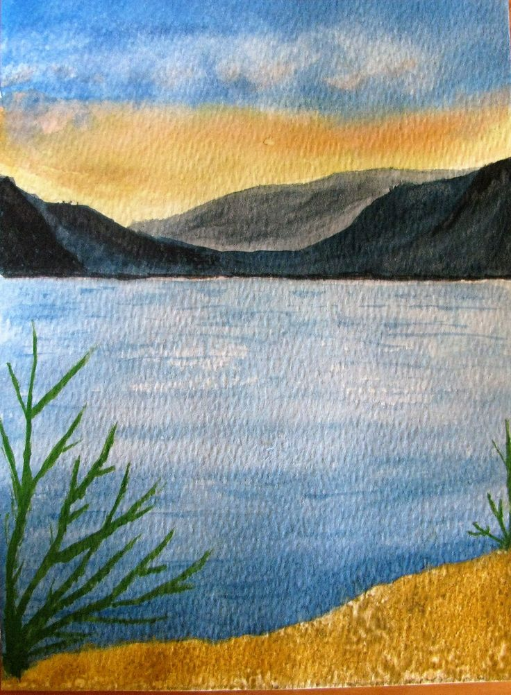 Water colour - calm water