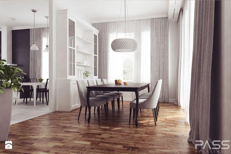 projekt 7 - Duża otwarta jadalnia jako osobne pomieszczenie, styl klasyczny - zdjęcie od PASS architekci