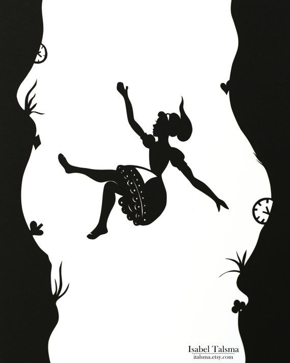 Down the Rabbit Hole - Alice in Wonderland Silhouette ...