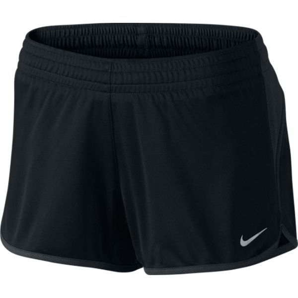 "With a 3.5"""" inseam, mesh ventilation and a sweat-wicking liner, Nike Knit Shorts offer the perfect coverage for the young and fast, with reflective details that remain visible on low-light runs. Dri-"