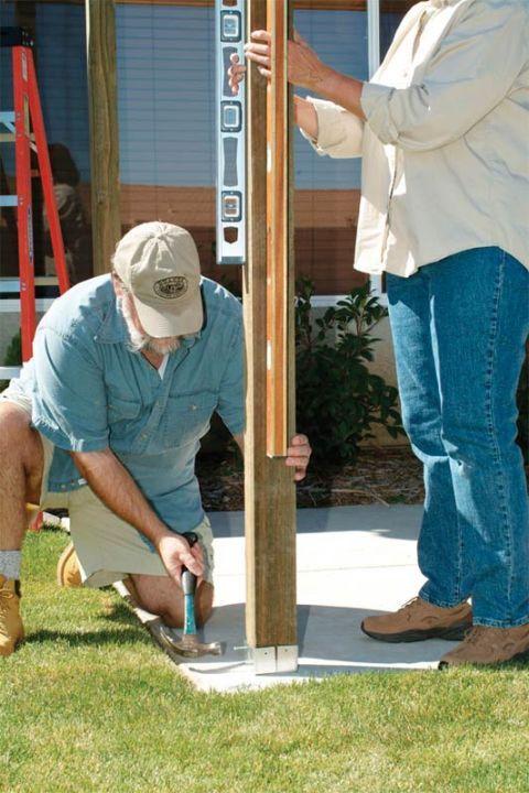 How to Build a Pergola Step By Step - DIY Building a Pergola - on existing concrete