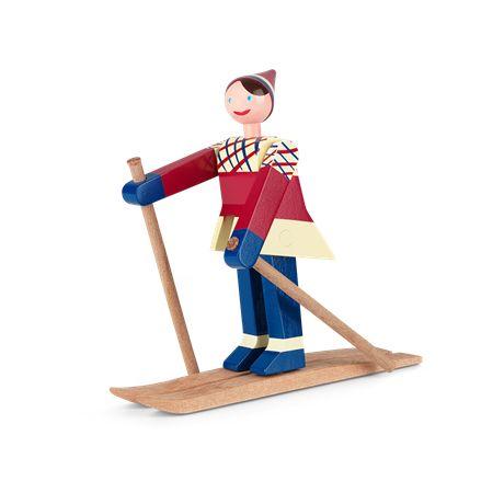 Datti the skier, girl - Kay Bojesen (1886 – 1958) was a Danish silversmith and designer. - www.kaybojesen-denmark.com