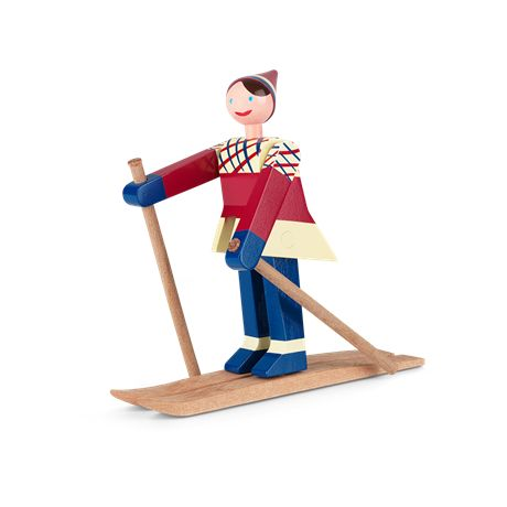 Kay Bojesen Datti the skier, girl #Kay Bojesen www.kaybojesen-denmark.com