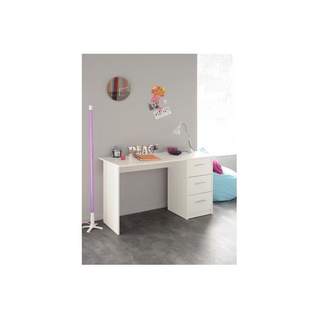 Best Bureau blanc avec tiroirs