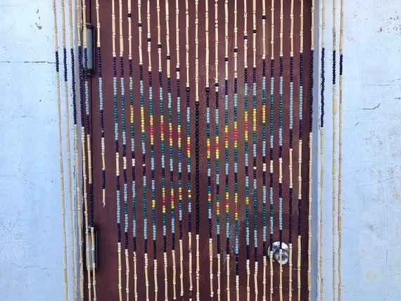 Vintage 70 S Door Beads With Butterfly Wooden Door Beads Boho