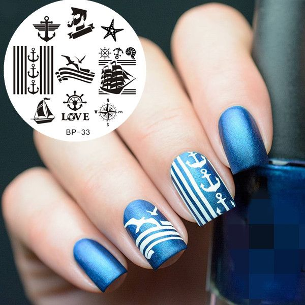 Sailors & Sea Sailing Theme Nail Art Stamp Template