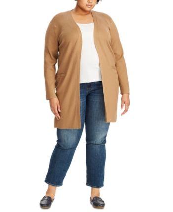 Plus Size Ribbed Long Cardigan 1