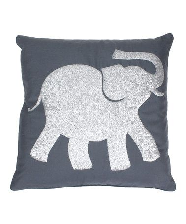 Love this Charcoal & Silver Sequin Elazar Elephant Throw Pillow on #zulily! #zulilyfinds