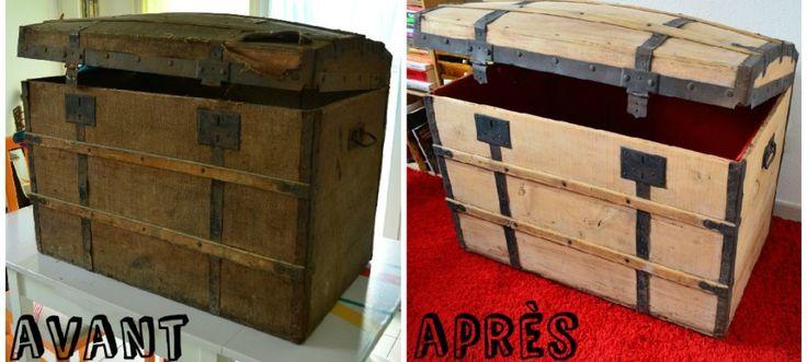 Les 25 meilleures id es de la cat gorie malle ancienne sur pinterest valise - Renovation malle ancienne ...