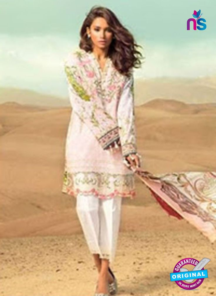 SC 13161 White and Multicolor Cambric Cotton Pakistani Suit #pakistanisalwarsuitsonine #pakistanisuitsonline #pakistanisalwarsuitsonlineshopping #pakistanisuitsonlineindia #BuyDesignerPakistaniSuits
