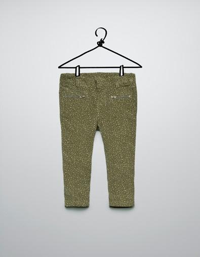 pantaloni in microvelluto con stampa leopardo