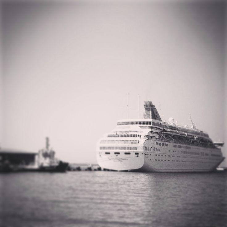 Thomson Majesty and Wind Star Cruises behind it. Two cruises are visiting Kusadasi Cruise Port today. Visit, enjoy and remember Ephesus with Us! www.bestephesustour.com #kusadasi #Ephesus #cruise #cruising #cruiseship #tour #travel #turkey #tourism #turkeytravel #izmir #photooftheday #ship #selcuk #didim #guide #holiday #vintage #vacation #bestphoto #bestoftheday