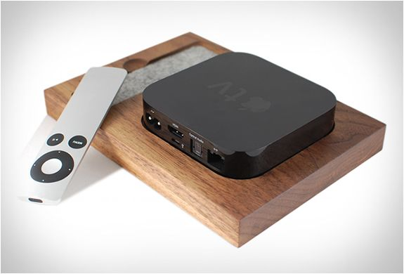 Apple TV holder by Tinsel and Timber