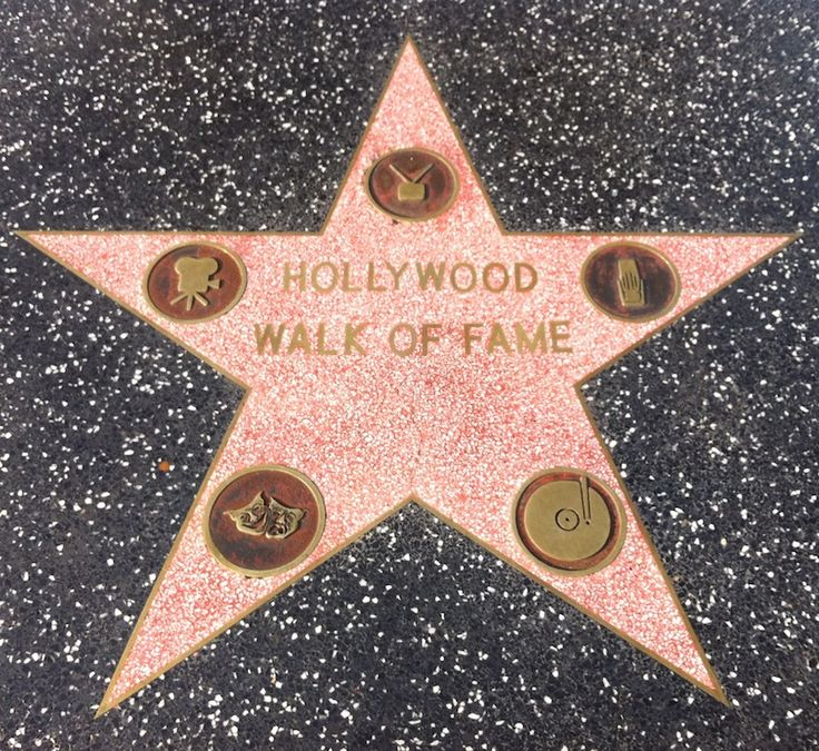 DIY 'Walk of Fame' stars with all the guests names