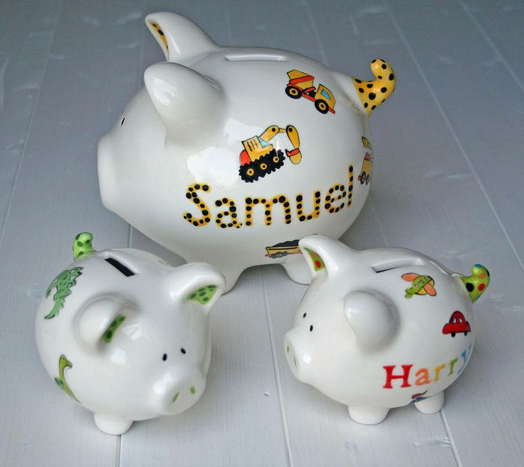 Personalised piggy bank for boys - Coin banks for boys ...