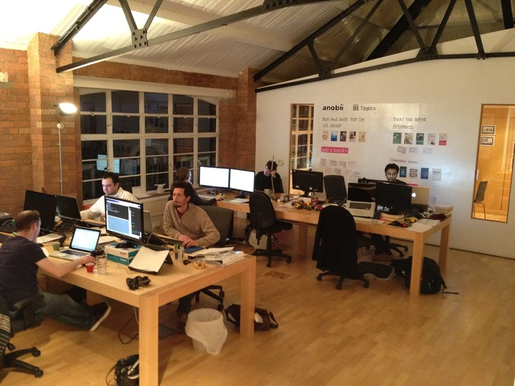 Inside our office.