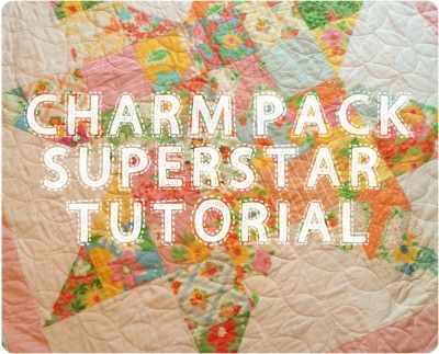 Charm Pack Superstar Quilt