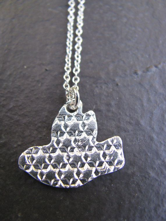 ON SALE!!! Small Dove Sign of Peace Charm on Sterling by steviebdesigns