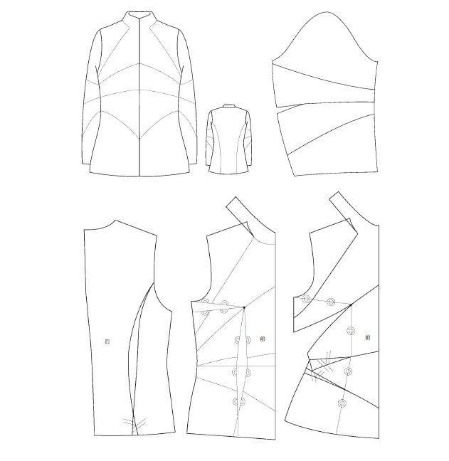 服装创意结构设计与制板 Clothing creative design and system board