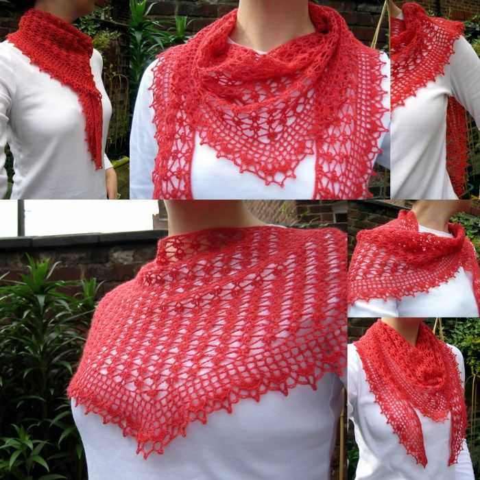 Crochet Lace Weight Shawl Pattern : 336 best images about crochet Wraps and Scarfs on ...
