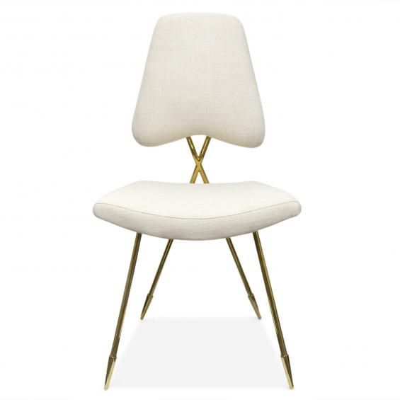 Shut up! Maxime dining chair in linen and brass