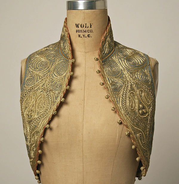 Turkey, vest, embroidered wool,  20th century