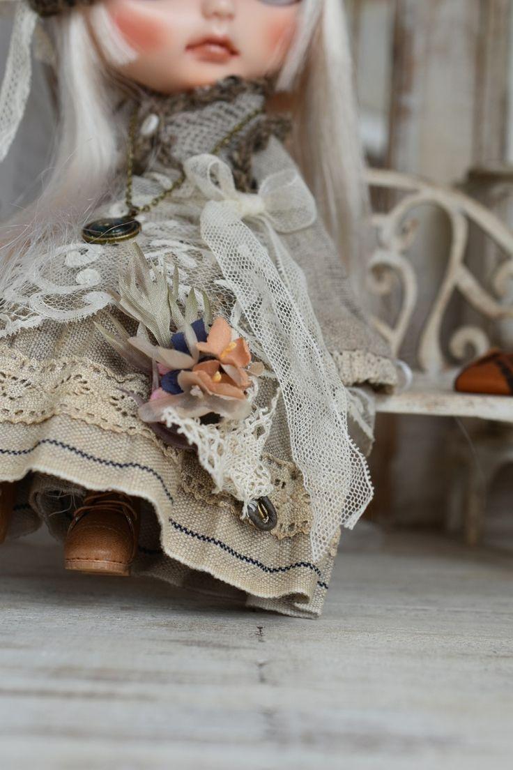 *ayudoll blythe dress*「ナチュラルワンピースセット」ブライス アウトフィット 洋服 ワンピース_画像2