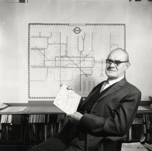 Harry Beck, the genius behind the iconic London subway map © Ken Garland, courtesy of London Transport Museum