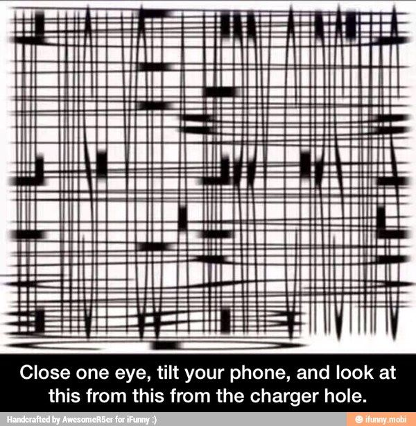 Then look from the left side after looking from your charger hole