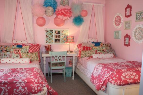 cuteLittle Girls, Twin Girls, Girls Room Design, Daughters Room, Kids Room, Shared Rooms, Pink Room, Girl Rooms, Twin Bedrooms