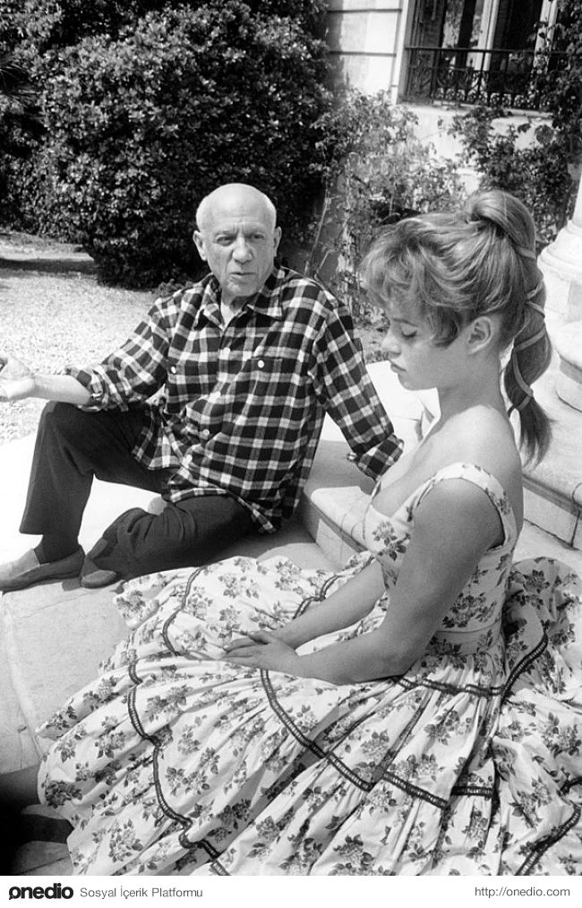Pablo Picasso ve Brigitte Bardot, 1956.