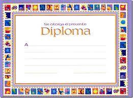 Resultado de imagen de diplomas infantil