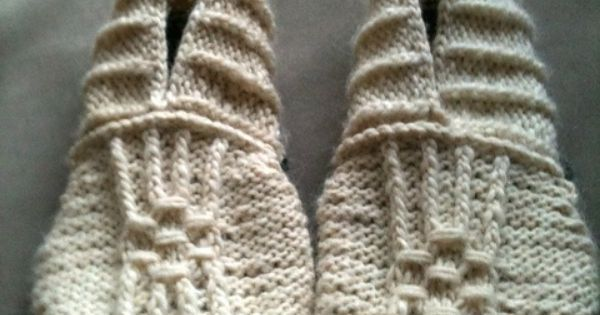 DIY Knitting Pattern - Japanese House Slippers. | See more about Knitting Patterns, Japanese House Slippers and Knitting.