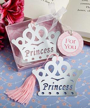 Princess Crown Bookmark Favors - Cinderella Party Favors