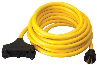 Coleman Cable - Generator Extension Cords 10/3 25' Sjtw Generatorcord 20 Amp: 172-01911 - 10/3 25' sjtw generatorcord 20 amp